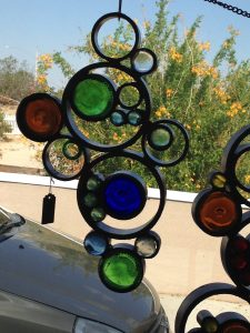 Window Charm in Recycled Glass